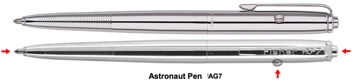 astronaut pen writes upside down - photo #24